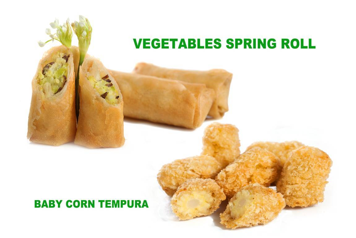 Vegetables Spring Roll - Baby Corn Tempura